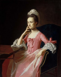 Copley portrait of Dolly Quincy Hancock, subject of the play Cato & Dolly