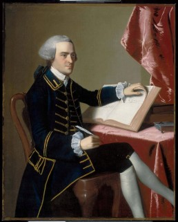 Copley portrait of John Hancock, one of the subjects of the play Cato & Dolly
